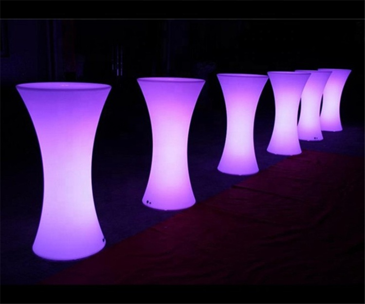 China supplier Rechargeable colorful led furniture LED lighting bar cocktail high table for party