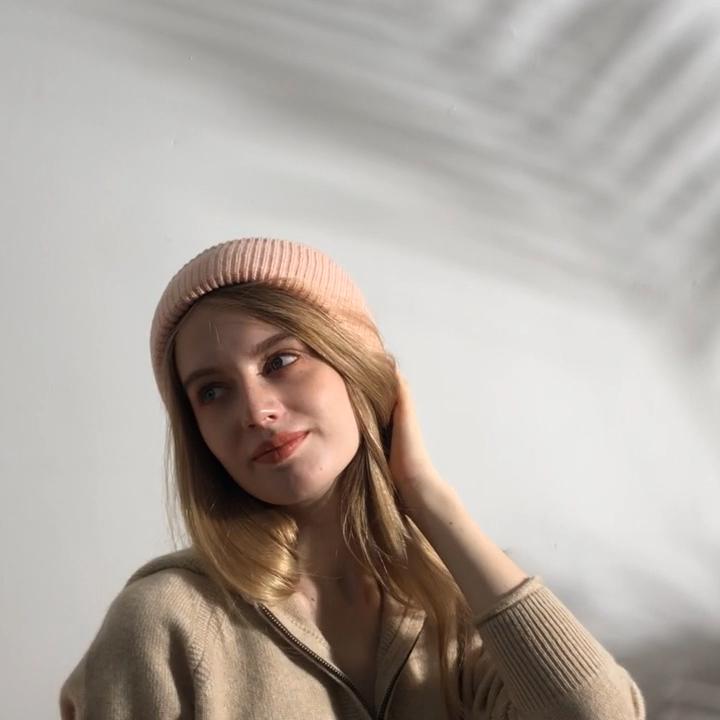 गर्म रखने के लिए सर्दियों कस्टम ऊन बुनना महिलाओं के फैशन Beanie गर्म