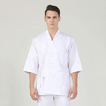 China factory wholesale Japanese white women sushi chef coat uniforms