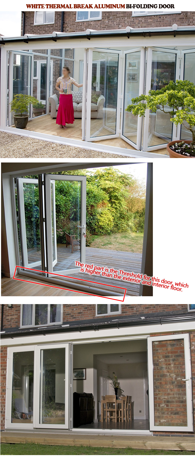 (New and original) bifold door assembly bi folding patio doors uk external