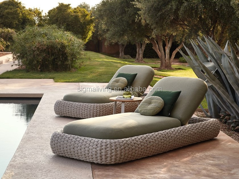 Patio outdoor garden sets rope chaise lounge sunbed furniture sale