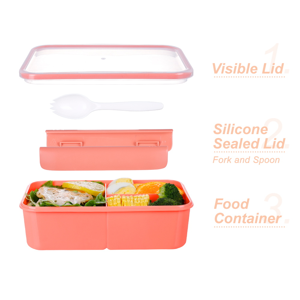 3 Compartement Wholesale Coroful Microwavable Eco Friendly School Plastic Kids Bento Lunch Box