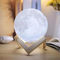 Creative moon lamp color light 3d effect led night light with remote control touch switch room decor