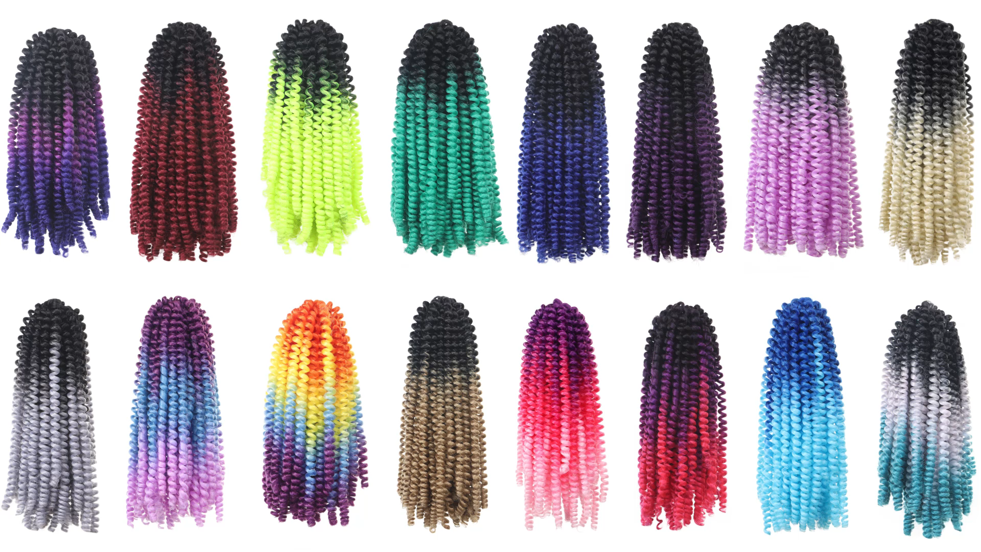 Fabrik Outlet Häkeln Geflecht Bombe Twist Braid Häkeln Haar Ombre Farbe Synthetische Flauschigen Haar Verlängerung Frühling Twist Häkeln Haar