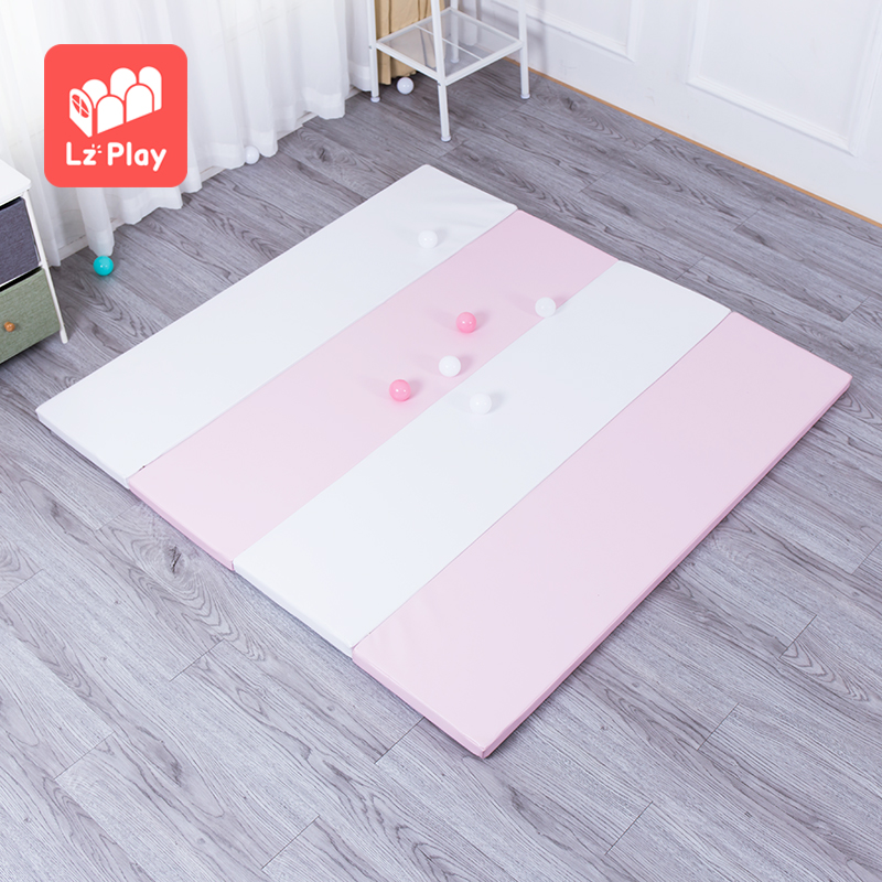 custom children padded soft pu playmat non toxic foldable xpe foam kids puzzle baby floor game toy crawling play mat for infants