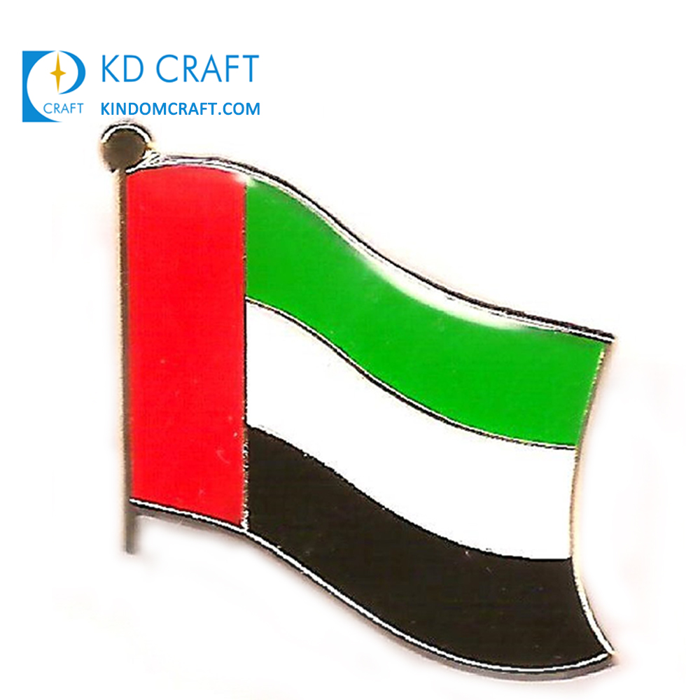 2019 neue angepasst metall abu dhabi dubai revers pin abzeichen gekreuzte freundschaft nationalen tag emaille epoxy custom flagge uae pin