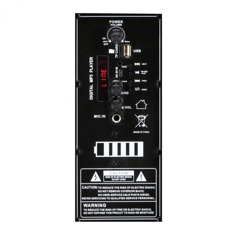 8inch Portable Big Outdoor Speaker System Subwoofer Sound Box With Led Light,square Dance Dj Speaker