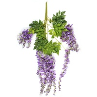 OurWarm Wedding Home Decoration Products Supply 1 Piece Artificial Silk Wisteria Garden Hanging Flower Plant Vine