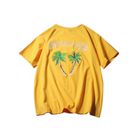 2019 Fashion Casual Embroidered Coconut Tree Pattern Summer Women'S T- Shirts