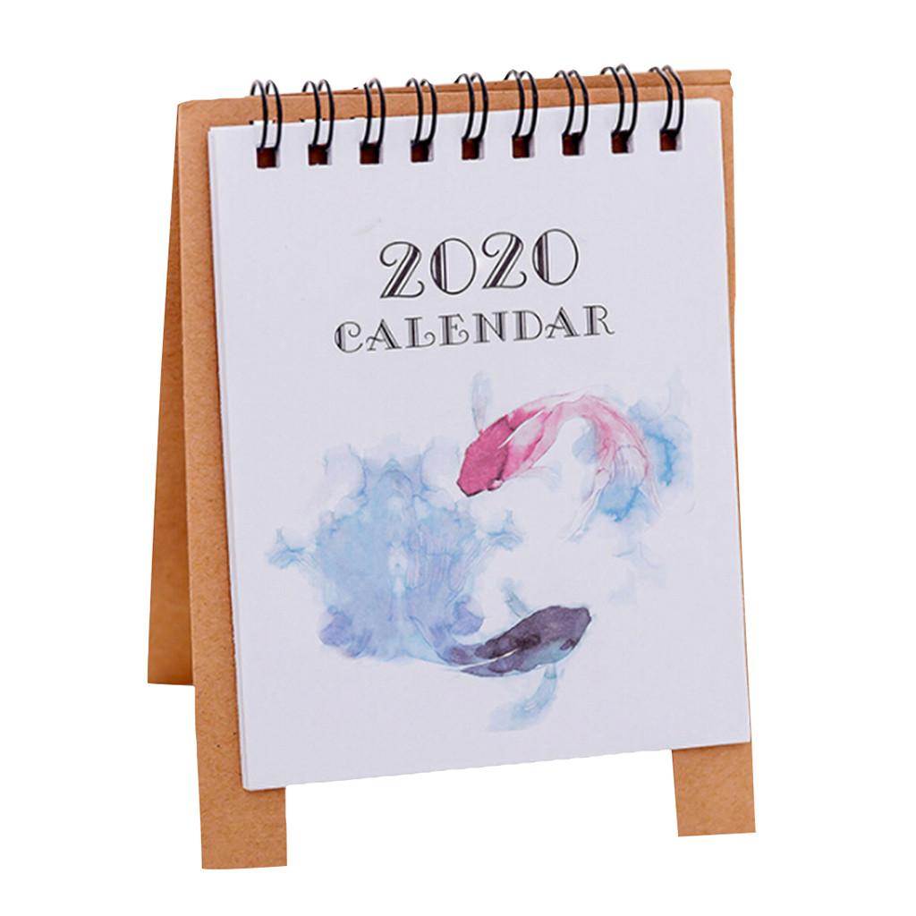 2020 милый мультяшный мини настольный календарь памятный план календарь планировщик книга стол календарь Органайзер(Китай)