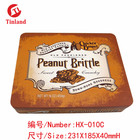 embossed large size tin box for cookies