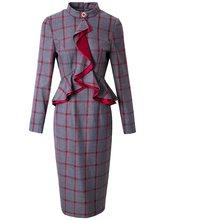 Новые весенние женские вечерние платья, повседневные винтажные Клубные платья с рюшами размера плюс, сексуальные платья знаменитостей для ...(Китай)