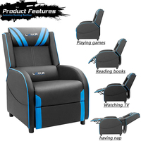 High Back Style PU Bucket Seat leather reclining sofa chair