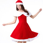 Fashion Adult Female Christmas Mantle Costume Long Sleeve Shawl Show Christmas Flannel Stage Cape Santa Claus Dress Up