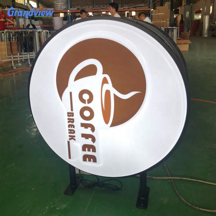 China factory wholesale good quality round shape acrylic Vacuum Forming LED advertising light box