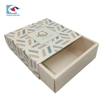 High quality custom printed soap drawer gift paper box with ribbon