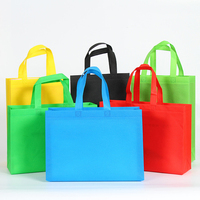 Cheap custom printed d-cut eco non woven fabric carrier bag recycle fabric tote bag
