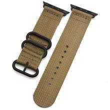 Ремешок NATO для Apple watch 5 band 44 мм 40 мм iWatch band 42 мм 38 мм спортивный нейлоновый браслет для Apple watch band 5 4 3 2 аксессуары(Китай)