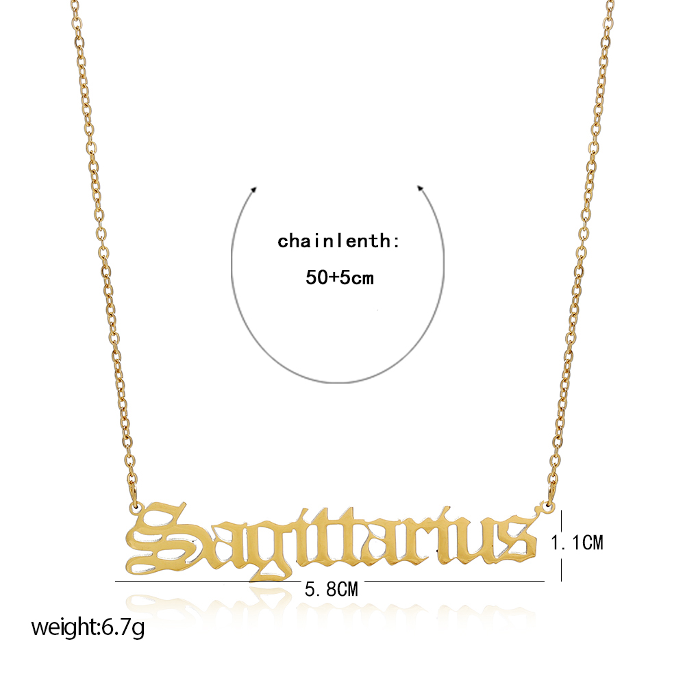 2020 New gold Stainless Steel pendant Zodiac Sign Necklaces Jewelry  for women wholesale N206272