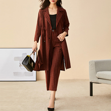 Office Suit Womens Trenchcoat Jas Lange Jas <span class=keywords><strong>Vrouwen</strong></span> Winter Jassen 2019 Twee Stuk Pak