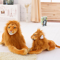 bulk cheap cuddly cartoon a crouching soft simulation big king lion plush toy