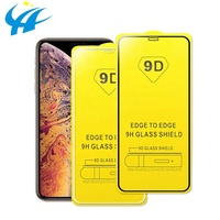 Wholesale Price 9D Screen Protector For IPhone 6 6s 7Plus xs xr xs max Full Cover tempered glass Screen Protector Mobile Phone