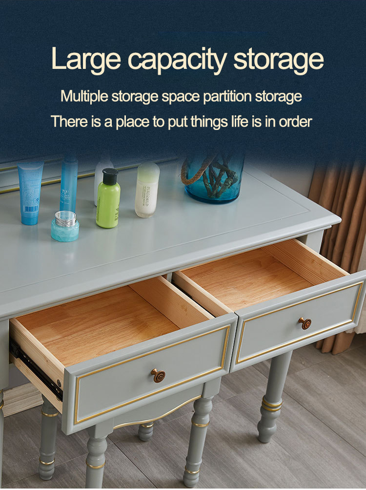 American retro high-end large-capacity storage  dresser