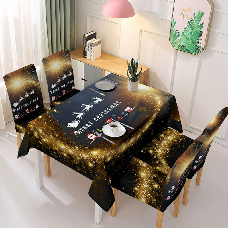 Ready to ship 2020 table cloth textile for party table cloths christmas decoration christmas table cloth//