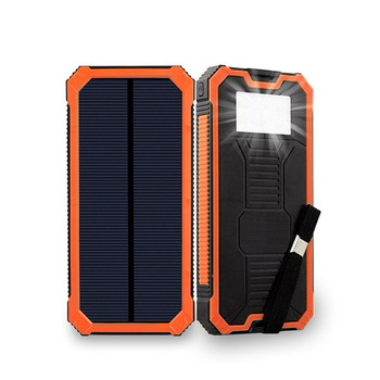 portable powerbank waterproof 10000mah solar power bank portable with light for indoor/outdoor
