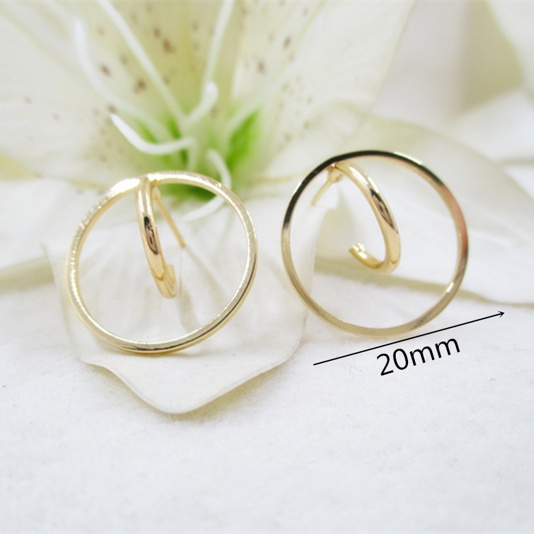 NANA high quality fashion 24k <strong>gold</strong> filled 20mm large round ring <strong>earring</strong> <strong>hooks</strong> and hoops findings