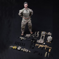 Shenzhen Factory Custom Make 1/6 Scale America Soldier Figure with Weapon Gun Custom Military Doll