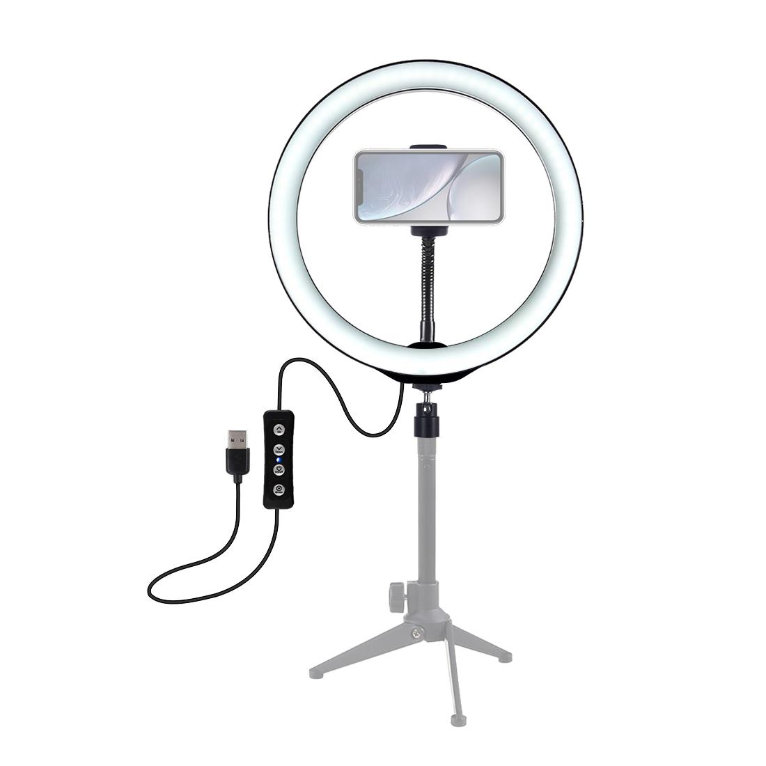 LED 링 라이트 전화 홀더 유튜브 비디오 라이브 스트림 메이크업 사진 Dimmable Selfie 반지 빛