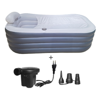 Luxurious Foldable Hot Tub Portable Inflatable Bathtub Adult
