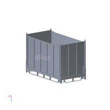 high capacity industrial foldable steel pallet box container