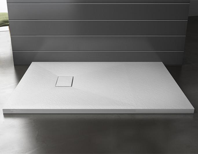 Doporro 正方形樹脂複合シャワートレイ石 90x90