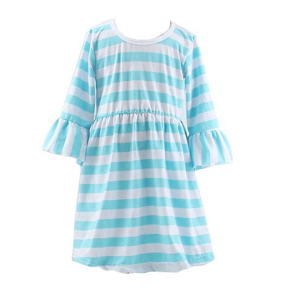fall winter stripe ruffle dress simple <strong>design</strong> <strong>girls</strong> frock bell sleeve online for <strong>girl</strong> dress up for <strong>girls</strong> of 7 years old