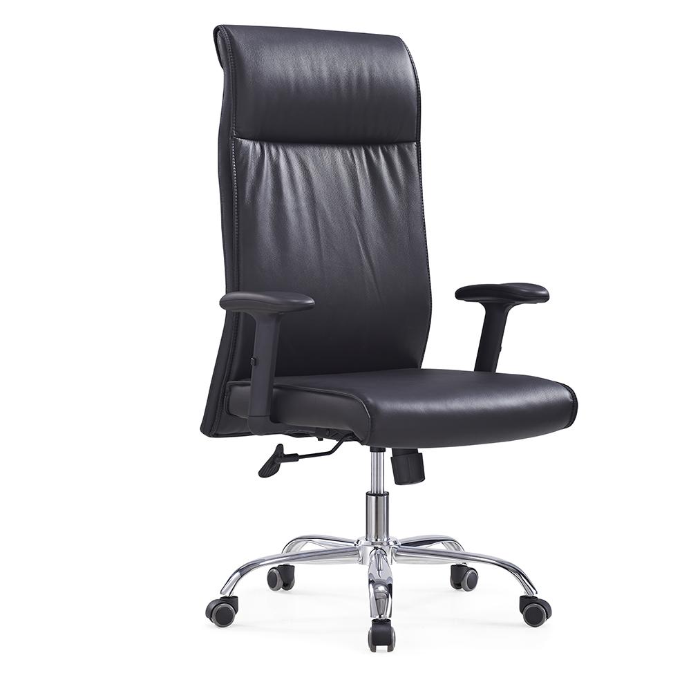 861-1A Luxus Gebogen Sperrholz Holz Büro Stuhl Büro Executive leder holz stuhl