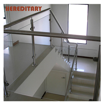 Front Porch Frost Glass Railing Stainless Steel Staircases ...
