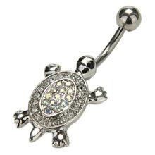 1 шт. хрустальные кольца для пирсинга пупка, сексуальные Стразы, болтающиеся кольца для пупка, высококачественные ювелирные изделия для пир...(Китай)