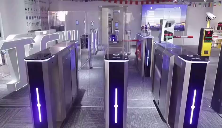 Automatic Sliding Door Tripod Turnstile People Counter Turnstile  Electric Turnstiles
