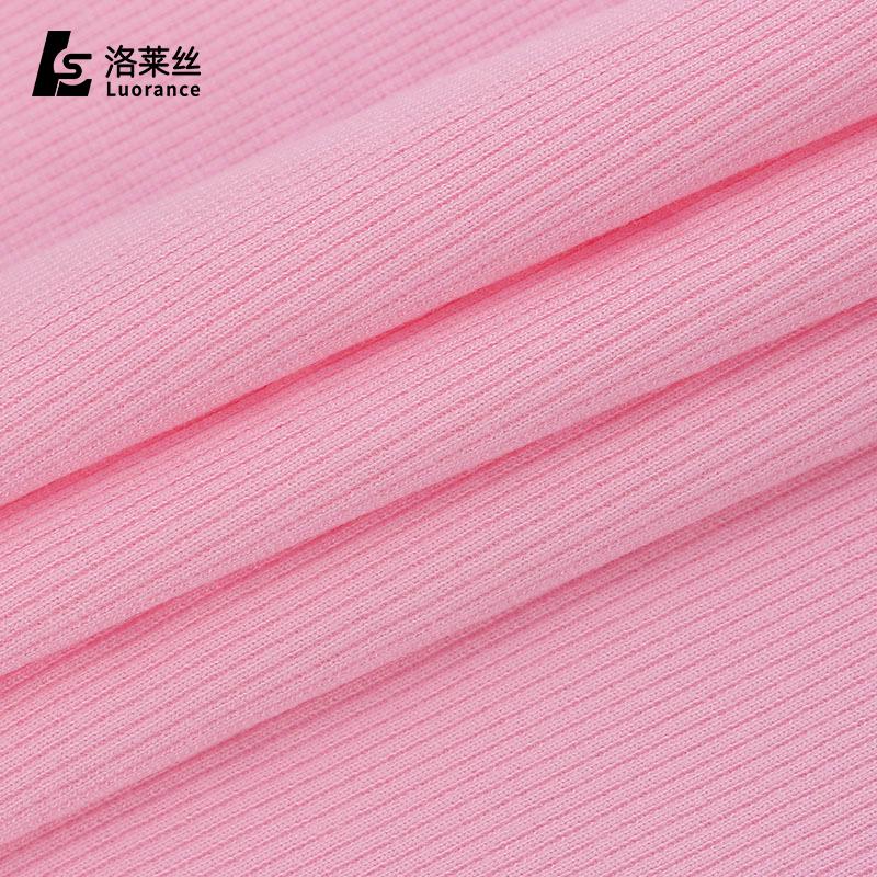 hot sale tubular 100% cotton rib knit fabric