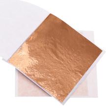 100 шт. Красочные листы золотых листьев, позолоченная бумага с имитацией золота, 8X8.5cm Рождественское украшение, мебель, настенная живопись, ху...(Китай)