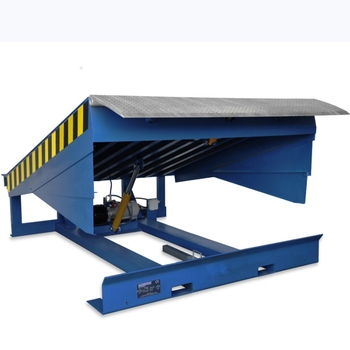 automatic adjustable lifting hydraulic motor dock leveler blue giant with buttons for factory loading bay