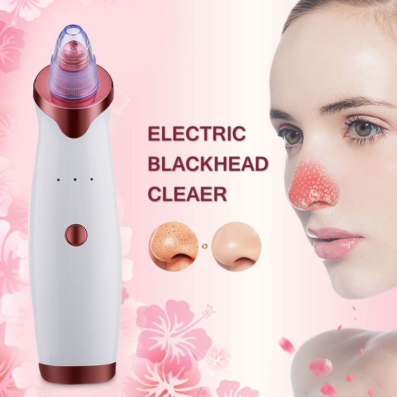China cheap blackhead remover pore cleaner blackhead suction remover vacuum tool kit nose pore cleaner blackhead remover