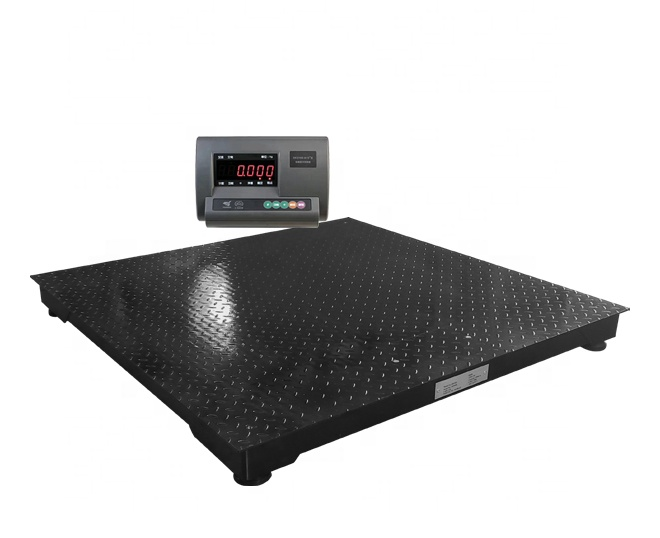 2020 New designed reinforced frame Electronic floor scale platform scale 1m * 1m 1000kg Factory direct supply