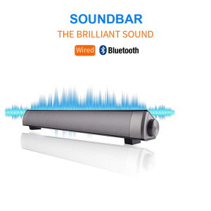 Stereo USB Powered Mini Soundbar Speaker for PC Tablets Desktop portable sound bar for Cellphone Laptop 2019