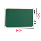 Double Sides Custom Size Aluminum Frame Double Side 1 Side White 1 Side Green White Board With Marker And Magnets