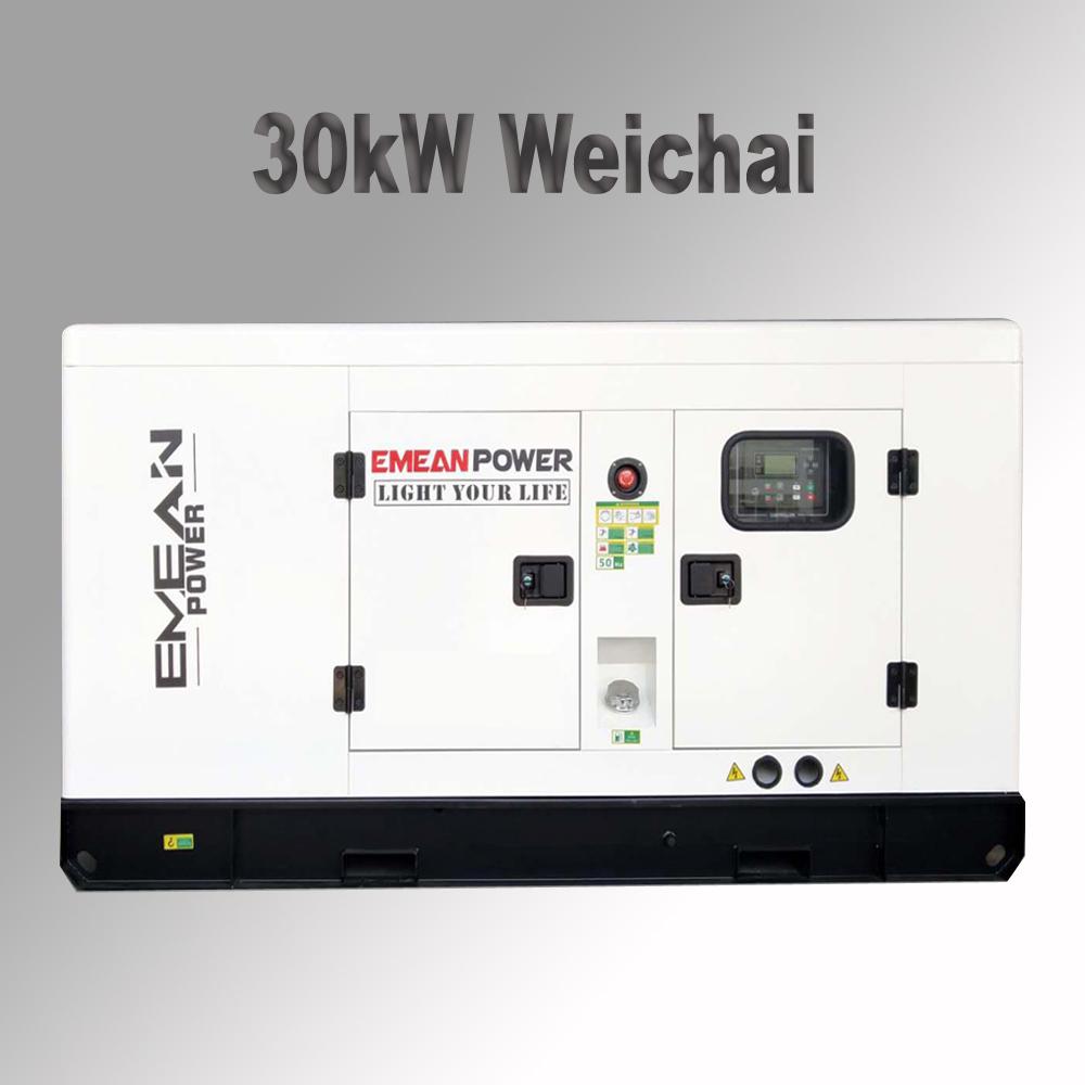 Three phase 50Hz 415V 30kw 40kva silentdieselgeneratorwith ATS and remote control price
