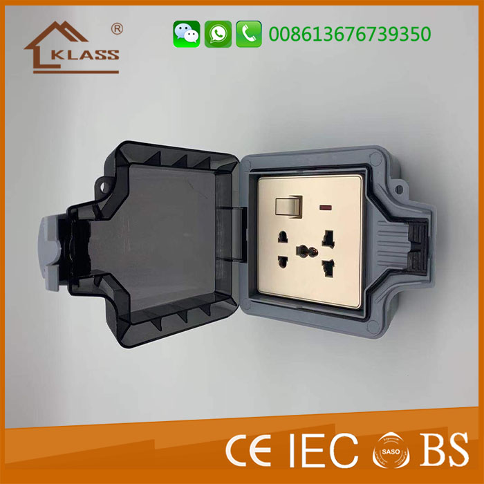 Ip66 Ip65 Ip54 Single Switched 13a Water Proof Outdoor
