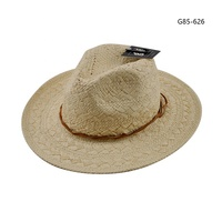Ladies straw hat cheap Best selling fedora raffia fashion hats